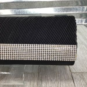 J Francis Clutch Black Textile Evening Formal